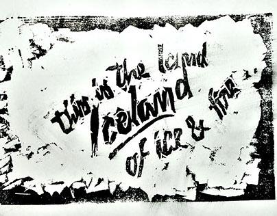 Linoleumgrafia - ICELAND