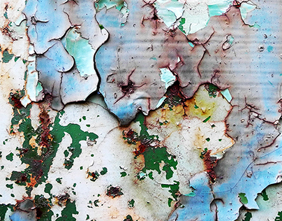 MULTILAYERED // rusty colored metal plates
