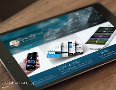 iOS Tablet Flat UI Set Vol. 2