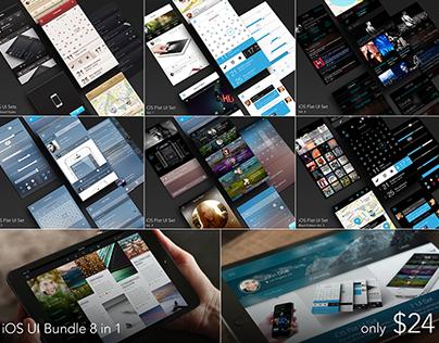 iOS UI Bundle 8 in 1