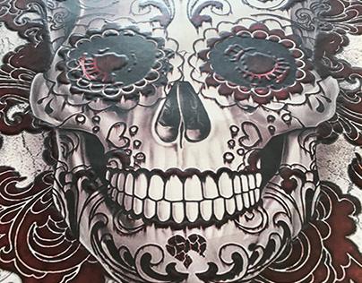 Poster santa muerte calavera josé guadalupe posada