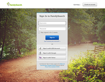 Family Search — Sign In