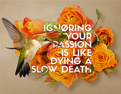 Sentiments poster series: Passion