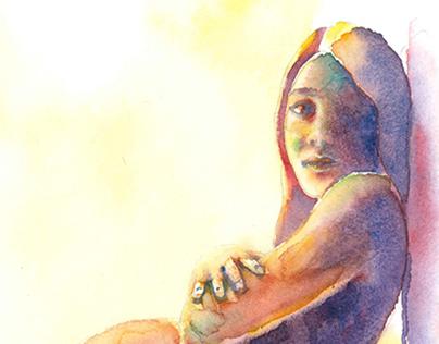 Watercolor - Pregnant
