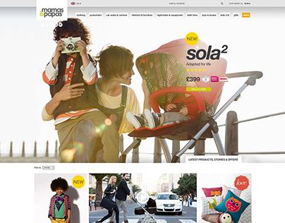 Mamas & Papas Website Redesign