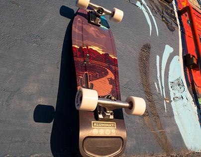 Skinwalker Skateboard Art