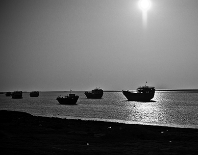 Old shipyard on Qeshm Island, Iran