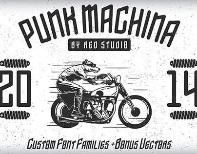 Punk Machina Typeface