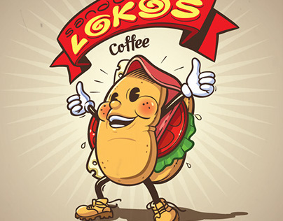 SANDUCHES LOKOS logo character design