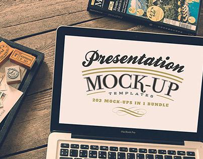 203 photoshop presentation mock-up templates