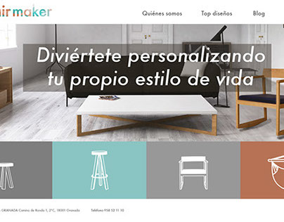 Chairmaker: pesonaliza tu asiento - Diseño web