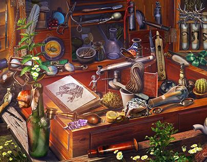 Art for some Hidden Object games!