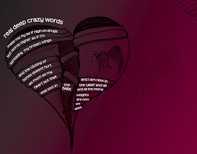 Deep Crazy Words - illustrated poem