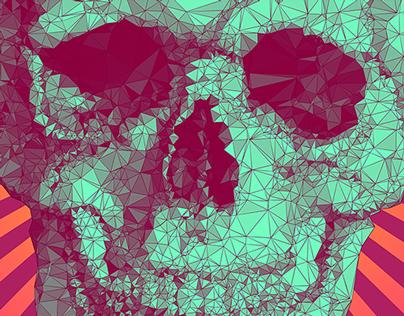 PolyArt Skull
