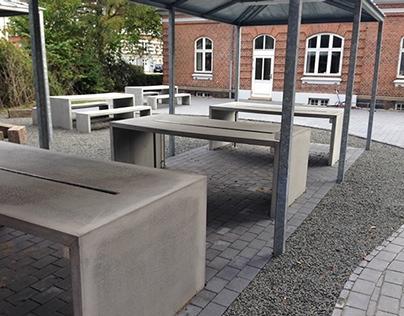 Cazana beton borde Samsøgade Skole Aarhus