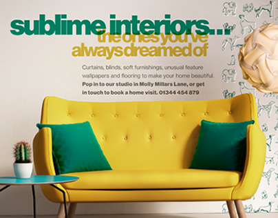 Marketing material for an interior designer