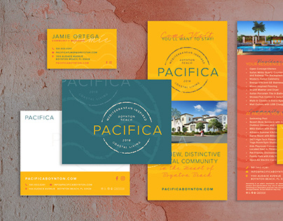 Pacifica Apartments Logo and Collateral Design