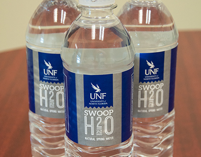 UNF Visitors Center water bottles