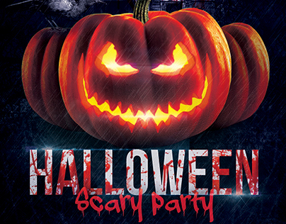 Halloween Scary Party Flyer