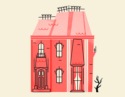 Boo! Haunted Houses | Illustration