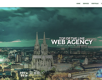 One Page Minimal Web Agency