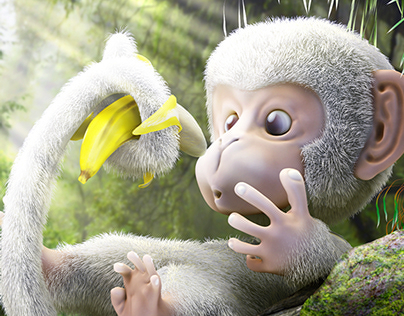 UNO the monkey - Character Design