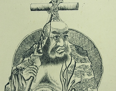 Want the bodhi old zu Traditional Chinese painting