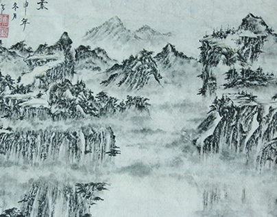 The traditional Chinese painting sketch