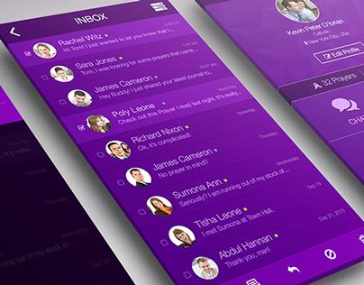 Inbox & Profile Screen - Mobile App UI