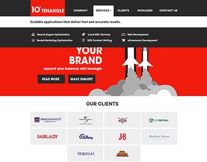 TenAngle Website UI Design