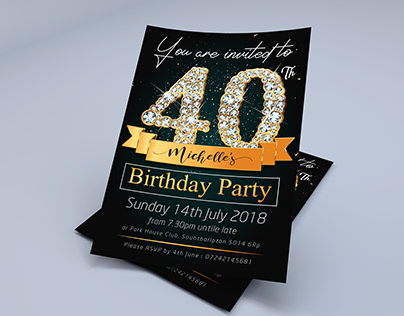 Save-The-Date, Birthday Invitation Template