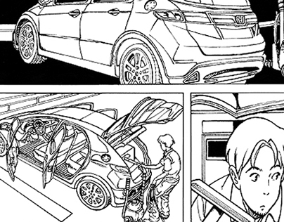 Manga Inks Sample on a short story by Walther Taborda