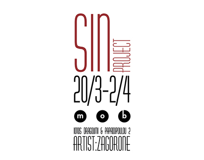 ''SIN PROJECT'' poster for stencil art exhibition