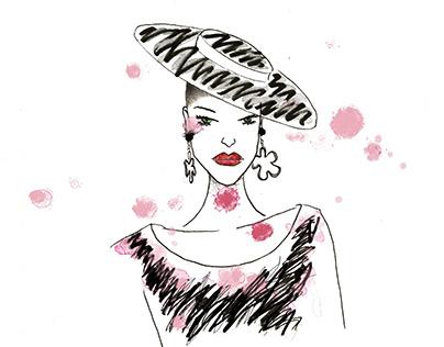 Fashion illustration for MOSCHINO SS'19