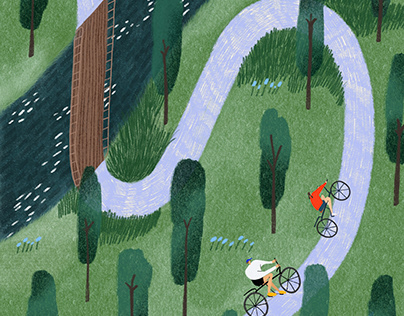 A Forest Bike Ride