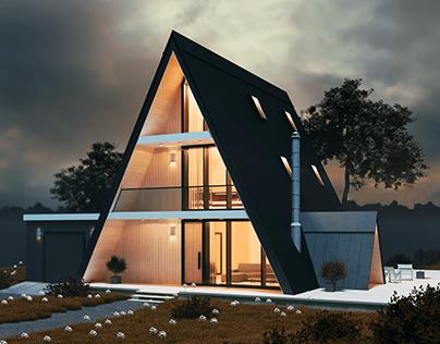 A-frame house concept