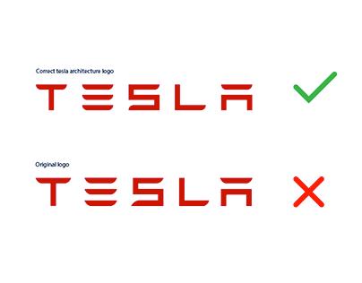 Tesla logo architecture [2019]