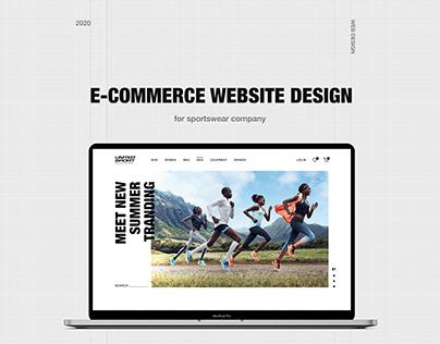 Sportswear E-commerce Website Design