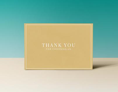 ZAVI | THANK YOU CARD