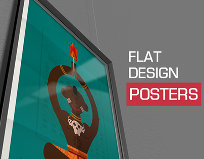 Flat Design Posters