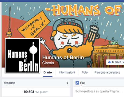 Facebook Headline Cover for Humans of Berlin