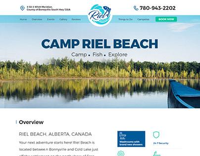 Riel Beach - One Page Website Design & WP Development