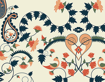 Patterns Inspired From Indian Embroidery Motifs On Behance
