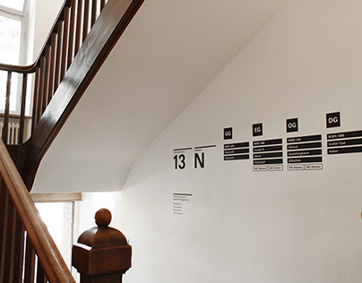 Guidance system for the faculty of design, Munich