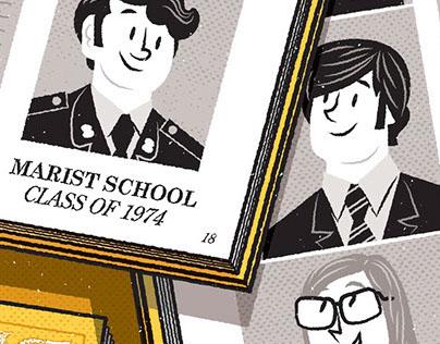 Marist School Alumni Magazine Spot Illustration