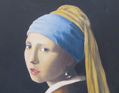 Homage to Vermeer - oil on canvas