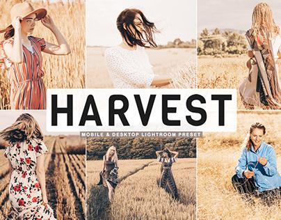 Free Harvest Mobile & Desktop Lightroom Preset