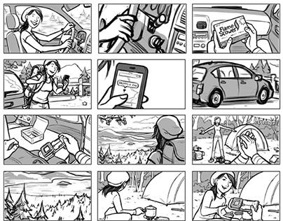 Rebel Unit Storyboards