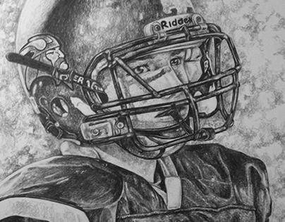 Portrait Commission - Football Player