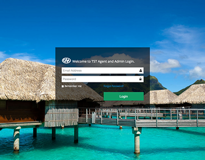 Travel Agent Login and Dashboard
